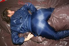 Woman grinding it in shiny nylon