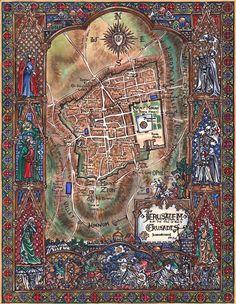 Map of The City of Jerusalem                                                                                                                                                                                 Mais