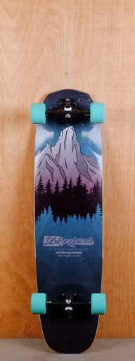 "The DB Prebuilt 37"" Keystone Longboardy is designed for freeriding and sliding."