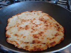 Pizza de inhame de frigideira