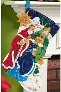 It's true that MerryStockings carries the full line of Bucilla felt Christmas stocking kits. We also have exclusive retired & discontinued Bucilla kits that you'll find no where else. With the largest inventory of kits anywhere, we know you'll find a kit Felt Stocking Kit, Christmas Stocking Kits, Felt Christmas Stockings, Christmas Holidays, Diy Nativity, Christmas Nativity, Hand Embroidery Kits, Crewel Embroidery, Cross Stitch Stocking