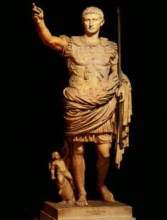 Statue of Augustus from the villa of his wife Livia at Prima Porta