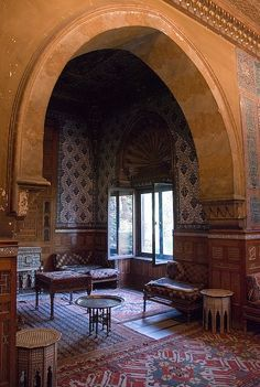 Interior of the Manial Palace, Cairo, Egypt