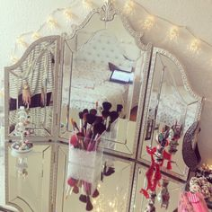 Make up vanity desk #prep #primp #girly #chic
