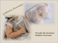 Handmade by Arantza Rivas: Christening headbands/Diademas de bautizo