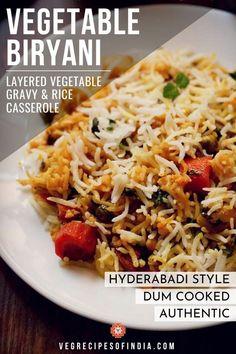 Veg Biryani, Vegetable Curry, Vegetable Dishes, Vegetable Couscous, Rice Recipes For Dinner, Vegetable Recipes, Vegetarian Recipes, Vegetarian Dish, Rice