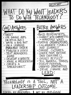 What do you want leaders to do with technology?