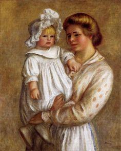 Claude and Renee aka Claude : Pierre Auguste Renoir : Museum Art Images : Museuma