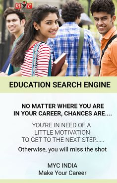 No matter where you are in your career, #chances are.... you're in need of a little @motivation to get to the next step.... @MYC INDIA Our Vision Make Your Career