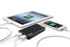 savings: With a design resembling a sleek, compact wallet, this must-have portable charger can help you cash in on some extra power. My Christmas Wish List, Portable Charger, Ship, Wallet, Phone Chargers, Compact, Favorite Things, Apps, College