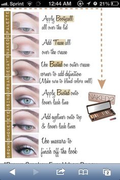 Finally I find some kind of step by step on how to use the Naked2 palette.