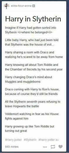 Harry in Slytherin