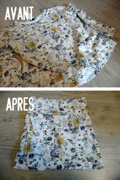DIY / Couture / Transformer un pull en jupe Sewing Clothes, Diy Clothes, Jean Diy, Dressing, Diy Fashion, Transformers, How To Make, Women, Refashioning