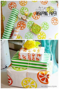 DIY Citrus Stamped W