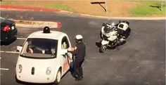 Police in Mountain View, Silicon Valley explained that an officer noticed traffic backing up behind a self-driving car going on a street with a speed limit. Speeding Tickets, Self Driving, Pedestrian, Mountain View, Slammed, Cops, Police Officer, Autos, Entertainment