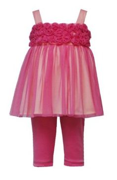 Rare Editions Baby/Infant Girls 12M-24M 2-Piece CORAL-PINK YELLOW MESH ROSETTE LEGGINGS PANTS Special Occasion Easter Birt... $31.90