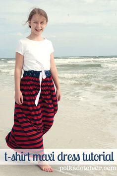 T-Shirt Maxi Dress Tutorial