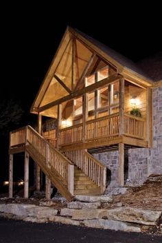 Nestled in the Ozark Mountains next to famous Table Rock Lake, Lodges at Fox Hollow offers fully equipped, spacious accommodations for the entire family. Table Rock, Lodges, Cool Photos, Around The Worlds, Cabin, Bedroom, House Styles, Shots, Fox