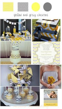 chevrons jaune et gris Ideas Para Fiestas, Baby Shower Fun, Communion, Save The Date, Backdrops, Bridal Shower, Wedding Inspiration, Invitations, Table Decorations