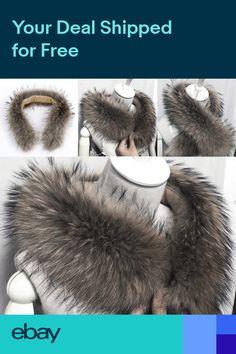0a832d43709 Trim Hood Faux Fake Fur Hood Winter Neck Warmer for Jacket Ski Collar Wrap  Shawl