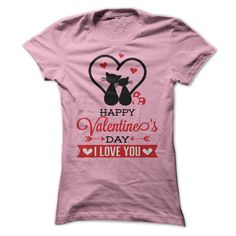 Happy Valentines Day T shirt My Cat T-Shirts, Hoodies. Get It Now ==►…