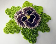 Irish Crochet Flower PATTERN Crochet Pansy PDF Pattern Instant