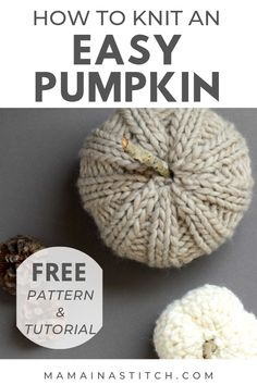 After sharing my crocheted pumpkin pattern last week, many of you contacted me wanting the knit version STAT. This knitting pattern is simple enough for beginners and it creates the perfectly… Pumpkin Uses, Crochet Pumpkin, Circular Knitting Needles, Round Loom Knitting, Sock Knitting, Vintage Knitting, Quick Knits, Chunky Yarn, Chunky Knits