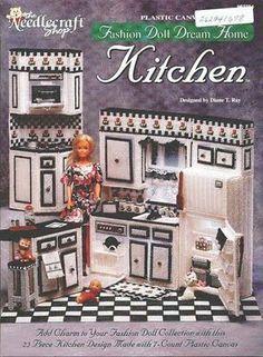 Nueva cocina para tu barbie | labores de esther. todo para barbie