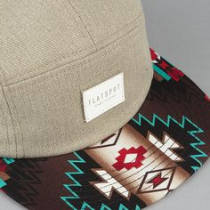 Flatspot native bill 5 panel cap tan