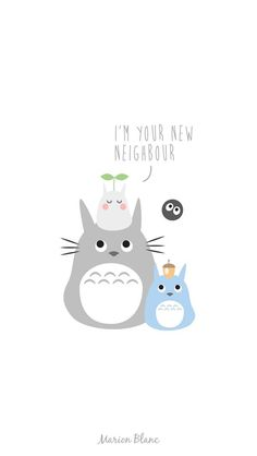 Totoro illustration Marion blanc
