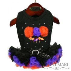 Sweet Lollipops Dog Vest, Black & Orange, Toni Mari, Dog Harness Vests - $59.50