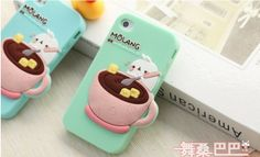 1PCS Cute 3D Rabbit  Silicone Case for iPhone5 5G 4S, Cartoon Girl Covers for iPhone,with Free Film $8.21