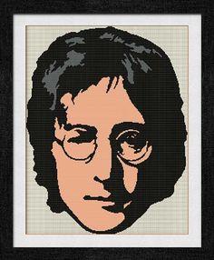"""Gráfico para punto de cruz de """"John Lennon""""."""