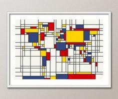 Trademark Fine Art 18 in. x 24 in. Mondrian World Map Canvas Art - The Home Depot - 18 in. x 24 in. Mondrian World Map Canvas Art - Piet Mondrian, Mondrian Kunst, World Map Art, World Map Canvas, Theo Van Doesburg, Map Design, Travel Design, Art Plastique, Graphic Art