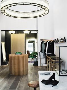 Beautiful light and dressing rooms.