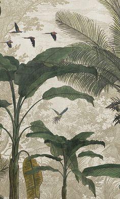 Wallpaper Size, Textured Wallpaper, Wall Wallpaper, Wallpaper Backgrounds, Wallpaper Jungle, Artistic Wallpaper, Designer Wallpaper, Motifs Art Nouveau, Poster Mural
