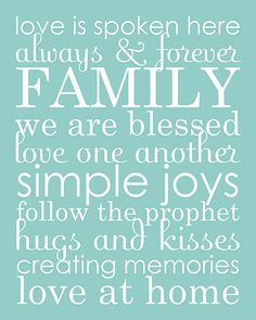 family word art collage & phrases download