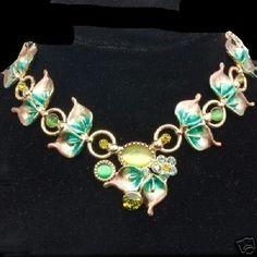 Schmuckset Blätter Collier + Ohrringe grün NEU (5141)Willkommen im  www.Chelsea-Fashion-Glamur.de  Shop Secondhand und Neuware Mode zu günstigen Preisen   Dies und Das für jeden was.....