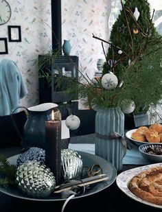 Rustiikkeja sisustuksia ja joulutunnelmaa