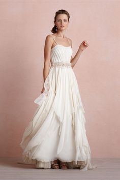 Cascading Goddess Gown in Bride Wedding Dresses at BHLDN