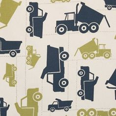 "Premier Prints Toy Trucks Felix/Natural  Width: 54""  V.Repeat: 25""  100% Cotton"