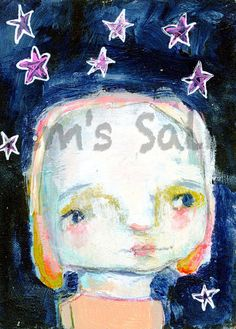 Beatrice  original ATC ACEO by Mindy Lacefield by timssally, $25.00
