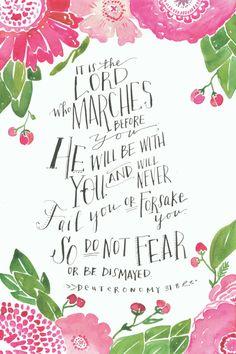 Walking with Purpose - Beholding His Glory 1 - Deuteronomy 31:8 lock screen