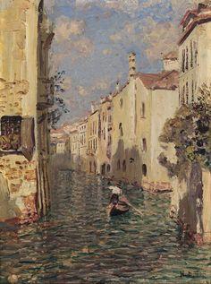 The Athenaeum - Venice (Nikolai Nikanorovich Dubovskoy - ) Aesthetic Painting, Aesthetic Art, Aesthetic Pictures, Pintura Exterior, Plakat Design, Photocollage, Art Hoe, Classical Art, Renaissance Art