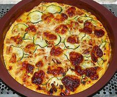 Clafoutis courgettes, thon et mozzarella (recette allégée)
