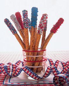Fourth of July Pretzel Sparklers - Martha Stewart Food