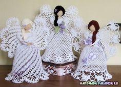 Рождественские ажурные ангелы крючком. Идеи для рукодельниц, которые готовятся к созданию подарков ручной работы к Рождеству к Новому году