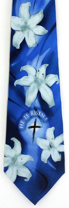 He is risen mens necktie christian religious jesus easter lily he is risen mens necktie christian religious jesus easter lily gift silk tie new jesus easter and silk ties negle Choice Image