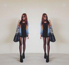 Denim x Black (by Julz Belle) http://lookbook.nu/look/4551553-Denim-x-Black