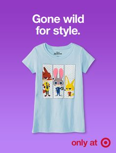 707cc4584 Add some animal flair to your kid's wardrobe with this Disney's Zootopia  graphic tee must-